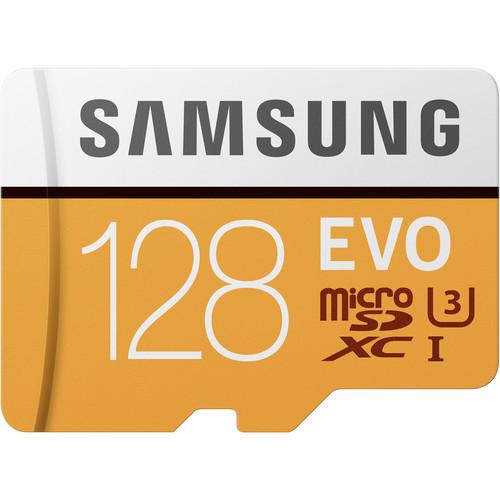 Samsung 128GB EVO UHS-I microSDXC Memory Card with SD Adapter