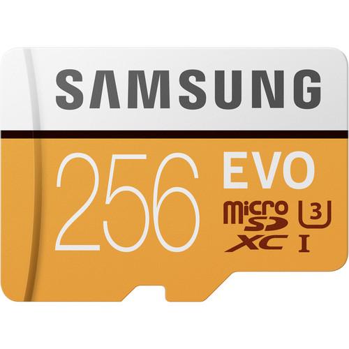 Samsung 256GB EVO UHS-I microSDXC Memory Card with SD Adapter