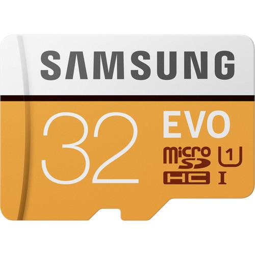 Samsung 32GB EVO UHS-I microSDHC Memory Card with SD Adapter