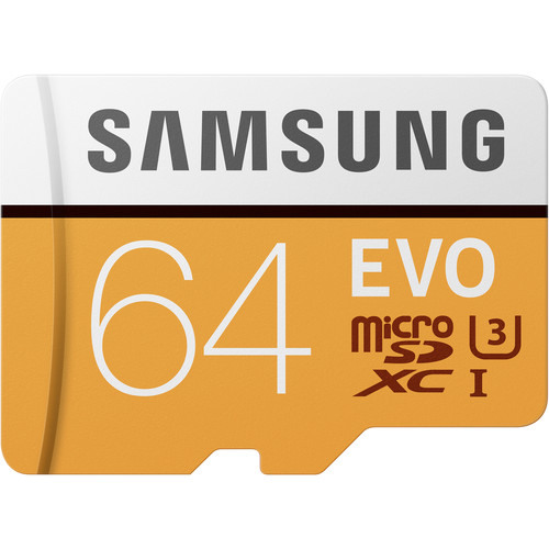 Samsung 64GB EVO UHS-I microSDXC Memory Card with SD Adapter