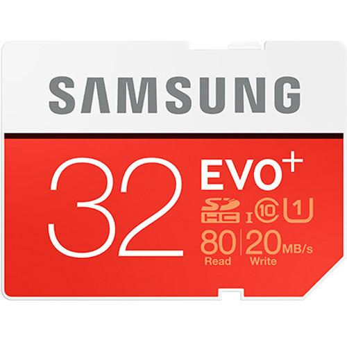 Samsung 32GB EVO+ UHS-I SDHC U1 Memory Card (Class 10)
