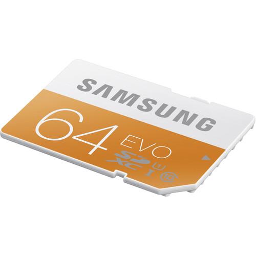 Samsung 64GB EVO UHS-I SDXC U1 Memory Card (Class 10)
