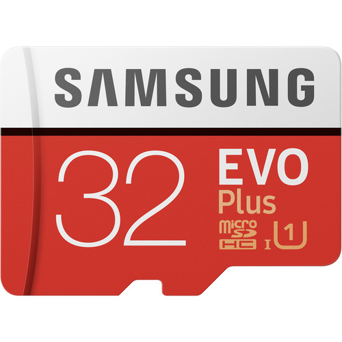 Samsung 32GB EVO+ UHS-I microSDHC Memory Card with SD Adapter