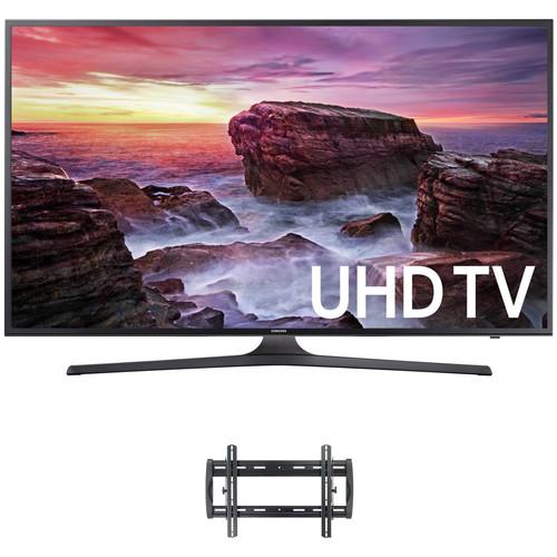 "Samsung MU6290-Series 65""-Class HDR UHD Smart LED TV and Tilting Wall Mount Kit"