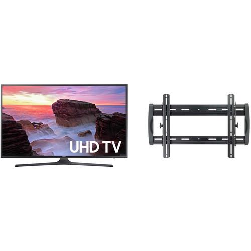"Samsung MU6300-Series 50""-Class HDR UHD Smart LED TV and Tilting Wall Mount Kit"
