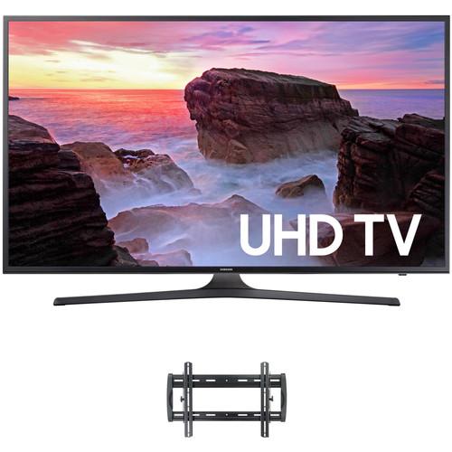 "Samsung MU6300-Series 75""-Class HDR UHD Smart LED TV and Tilting Wall Mount Kit"
