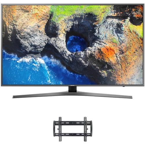 "Samsung MU7000-Series 55""-Class HDR UHD Smart LED TV and Tilting Wall Mount Kit"