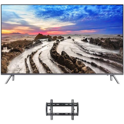 "Samsung MU8000 55"" Class HDR UHD Smart LED TV and Tilting Wall Mount Kit"