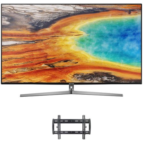 "Samsung MU9000-Series 55""-Class HDR UHD Smart LED TV and Tilting Wall Mount Kit"