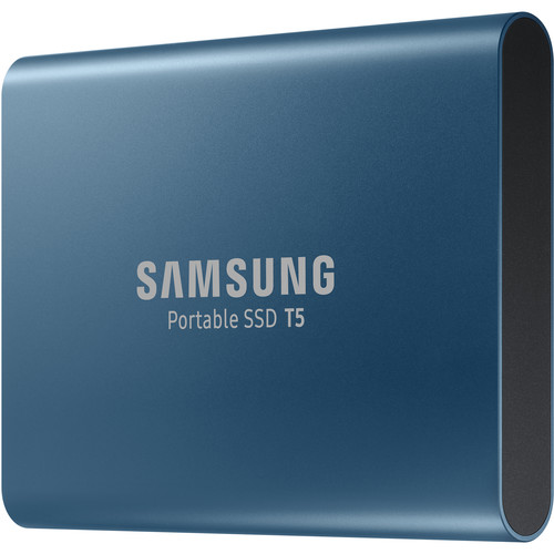 Samsung 250GB T5 Portable Solid-State Drive (Blue)