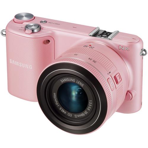 Samsung NX2000 Mirrorless Digital Camera with 20-50mm f/3.5-5.6 Lens (Pink)