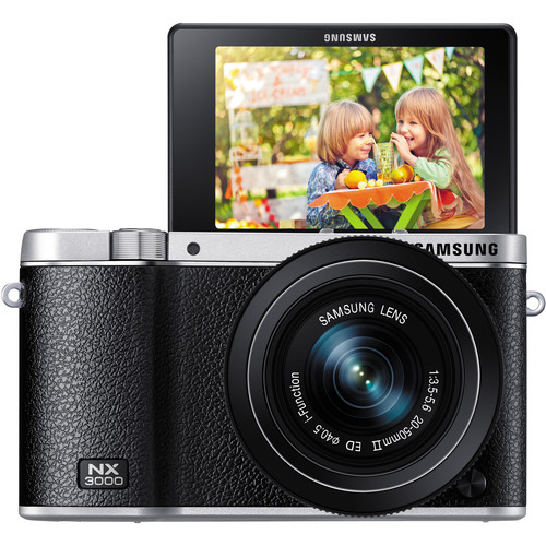 Samsung NX3000 Mirrorless Digital Camera with 20-50mm and 50-200mm 2-Lens Kit (Black)