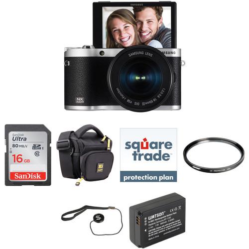 Samsung NX300M Mirrorless Digital Camera with 18-55mm Lens Deluxe Kit (Black)