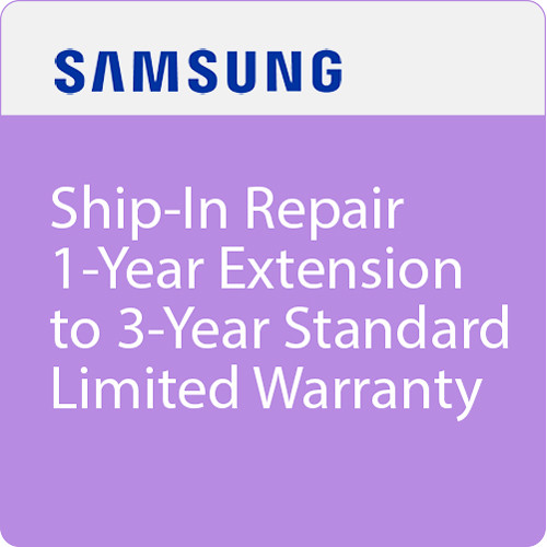 Samsung Ship-In Repair 1-Year Extension to 3-Year Standard Limited Warranty ($300-499.99)