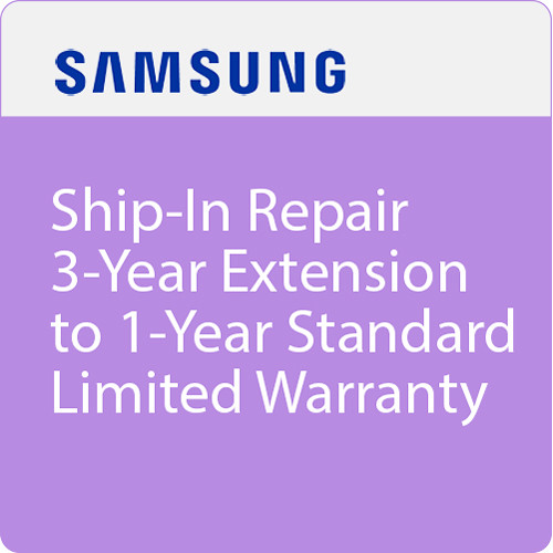 Samsung Ship-In Repair 3-Year Extension to 1-Year Standard Limited Warranty ($0-299.99)