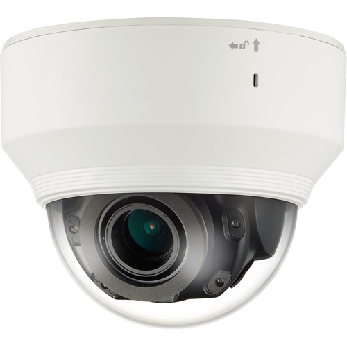 Hanwha Techwin WiseNet P Series 4K Network IR Dome Camera with Night Vision
