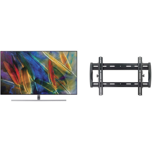 "Samsung Q7F-Series 55""-Class HDR UHD Smart QLED TV and Tilting Wall Mount Kit"