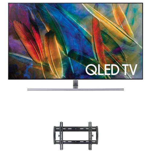 "Samsung Q7F-Series 65""-Class HDR UHD Smart QLED TV and Tilting Wall Mount Kit"