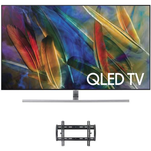 "Samsung Q7F-Series 75""-Class HDR UHD Smart QLED TV and Tilting Wall Mount Kit"