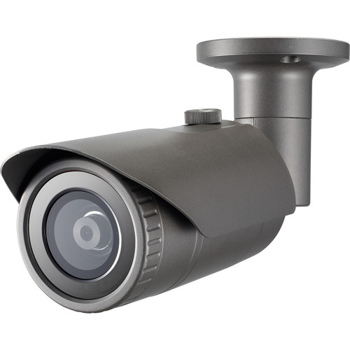 Hanwha Techwin WiseNet Q 4MP Network Outdoor Bullet Camera with 6mm Fixed Lens with Night Vision