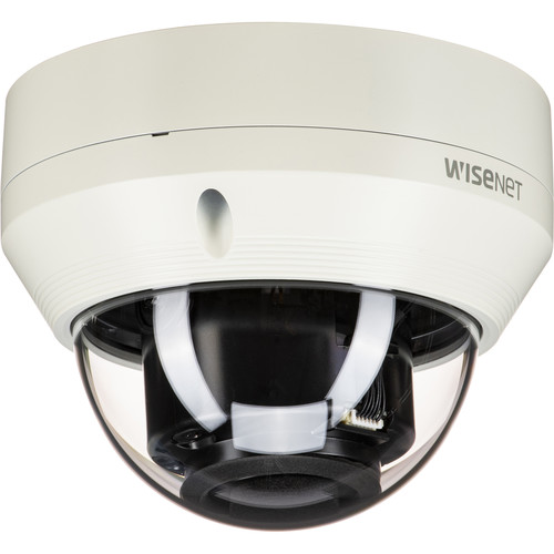 Hanwha Techwin WISENET Q Series 4MP Vandal-Resistant Outdoor Network Dome Camera with 2.8 to 12mm Varifocal Lens