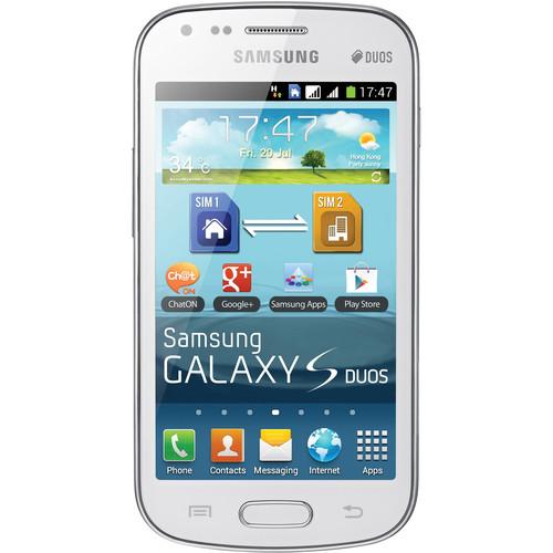 Samsung Galaxy S Duos GT-S7562L 4GB Smartphone White, Unlocked)