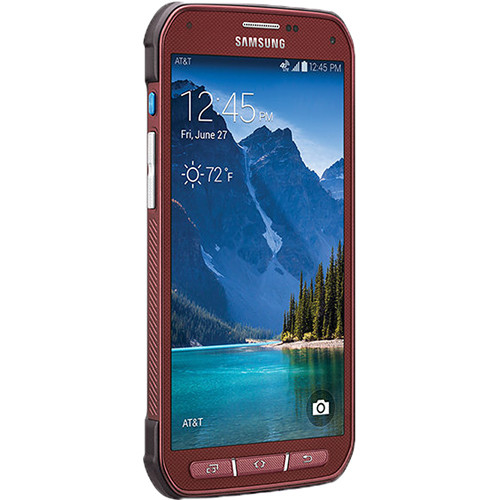 Samsung Galaxy S5 Active SM-G870A 16GB AT&T Branded Smartphone (Unlocked, Red)