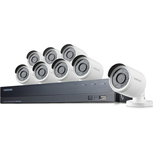 Samsung 16-Channel 1080p DVR with 2TB HDD & 8 1080p Bullet Cameras with Night Vision