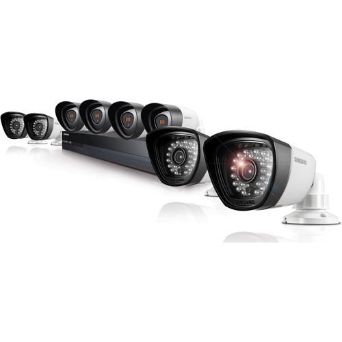 Samsung SDH-P5081 16-Channel 2TB HDD Hybrid DVR with Eight Day/Night Cameras