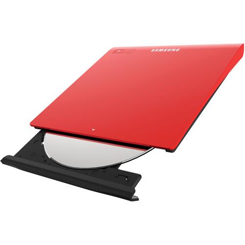 Samsung SE-208GB/RSRD Slim External USB DVD-Writer (Red)