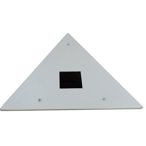 Hanwha Techwin SHD-200C Medium Size Triangle Corner Mount for Network Remote Head Cameras (Ivory)