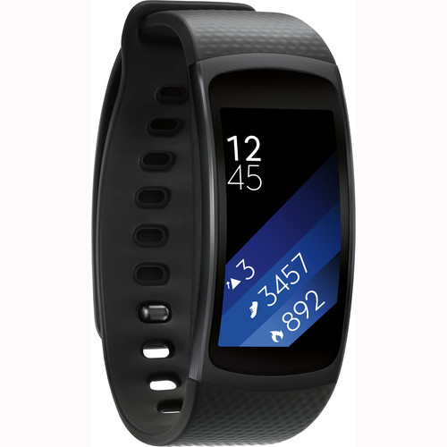 Samsung Gear Fit2 Fitness Band (Large, Black)