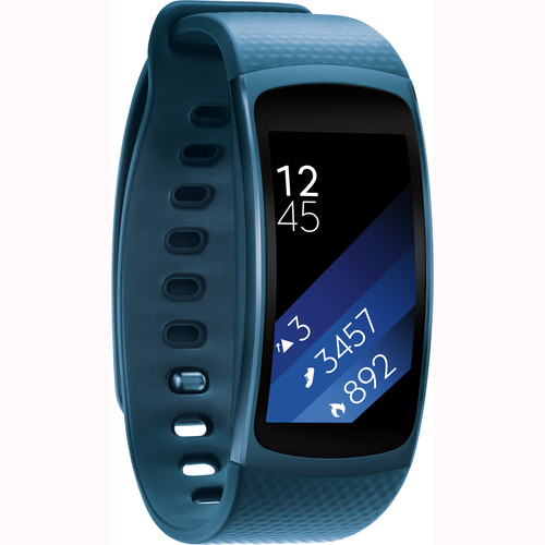 Samsung Gear Fit2 Fitness Band (Large, Blue)