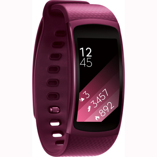 Samsung Gear Fit2 Fitness Band (Large, Pink)