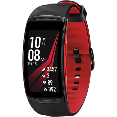 Samsung Gear Fit2 Pro Fitness Band (Small, Red)