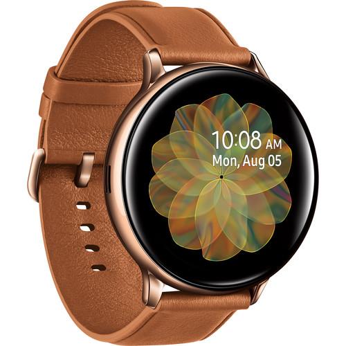 Samsung Galaxy Watch Active2 LTE Smartwatch (Stainless Steel, 44mm, Gold)