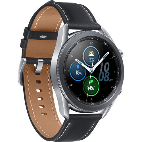 Samsung Galaxy Watch3 GPS Smartwatch (Bluetooth, 45mm, Mystic Silver)