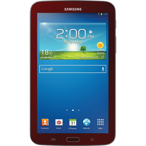 "Samsung 8GB Galaxy Tab 3 Multi-Touch 7.0"" Tablet Bundle (Wi-Fi Only, Garnet Red)"