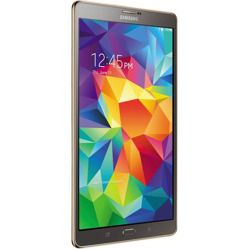 "Samsung 16GB Galaxy Tab S Multi-Touch 8.4"" Wi-Fi Tablet (Titanium Bronze)"