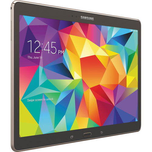 "Samsung 16GB Galaxy Tab S Multi-Touch 10.5"" Wi-Fi Tablet (Titanium Bronze)"