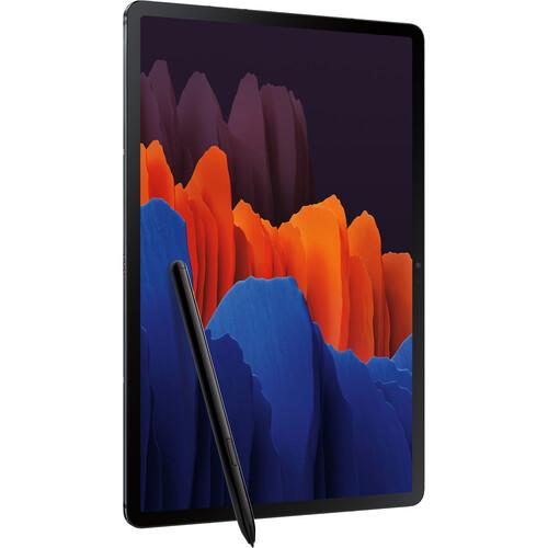 """Samsung 12.4"""" Galaxy Tab S7+ 128GB Tablet (Wi-Fi Only, Mystic Black)"""