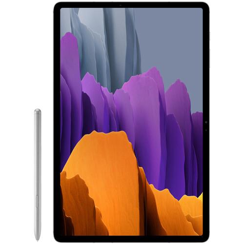 """Samsung 12.4"""" Galaxy Tab S7+ 256GB Tablet (Wi-Fi Only, Mystic Silver)"""