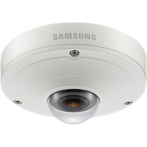 Hanwha Techwin SNF-7010VM 3MP Day & Night Outdoor 360 Fisheye Mobile IP Camera (Ivory Finish)