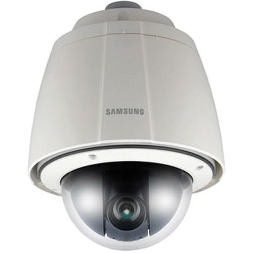 Hanwha Techwin SNP-3302H Day/Night Vandal-Resistant Network PTZ Dome Camera with Built-In Heater (Ivory, NTSC)