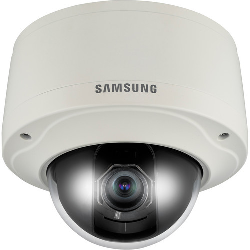 Samsung Techwin SNV-3082 Vandal-Resistant Network Dome Camera (Ivory)