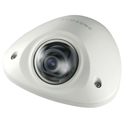 Hanwha Techwin SNV-5010N 1.3MP Day/Night Vandal-Resistant Network Flat Camera with Built-In 3mm Fixed Lens (Ivory)