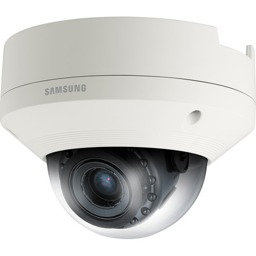 Hanwha Techwin SNV-6084R 2 MP 1080p Full HD Vandal-Resistant Network IR Dome Camera with Built-In Motorized Varifocal Lens