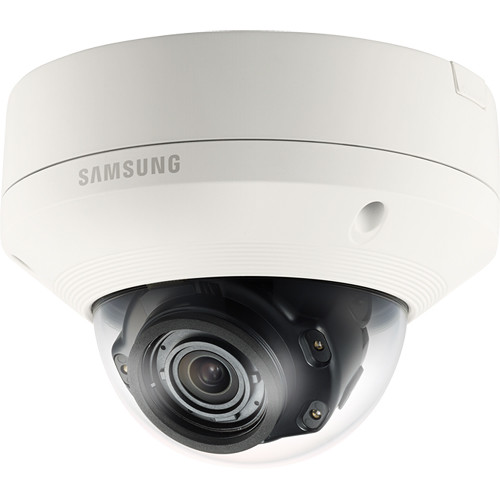 Samsung SNV-8081R 5MP Day/Night Vandal-Resistant IR Network Dome Camera with 3.6 to 9.4mm Lens (Ivory)