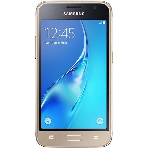 Samsung Galaxy J1 Duos J120M 2nd Gen 8GB Smartphone (Region Specific Unlocked, Gold)