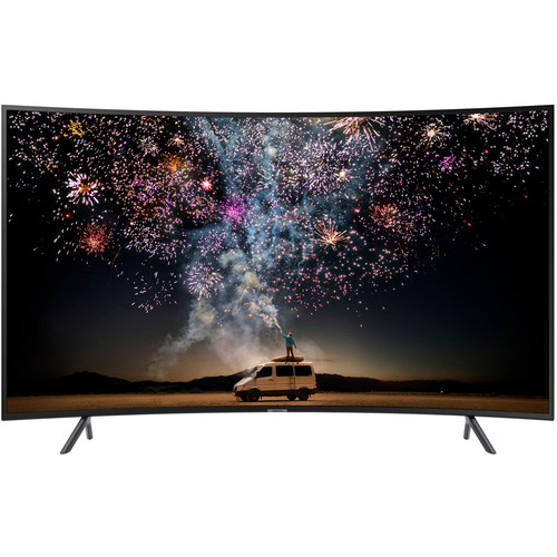 "Samsung RU7300 49"" Class HDR 4K UHD Smart Curved Multisystem LED TV"